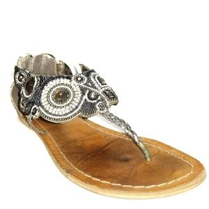 Coconuts Silver Bling Gladiator Sandals Size 7
